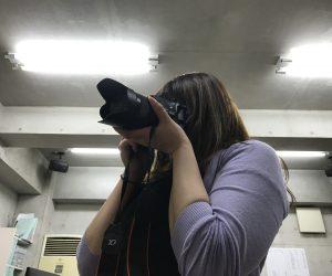 取材用カメラ